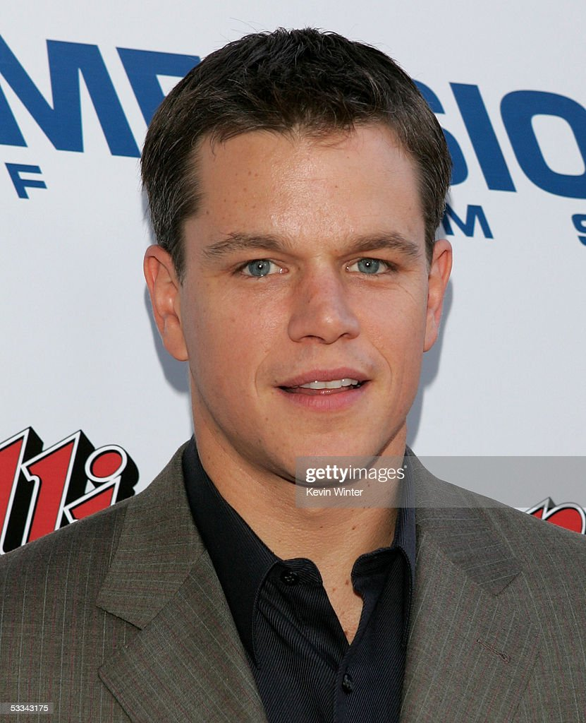 Actor <a gi-track='captionPersonalityLinkClicked' href=/galleries/search?phrase=Matt+Damon&family=editorial&specificpeople=202093 ng-click='$event.stopPropagation()'>Matt Damon</a> arrives at the premiere of 'The Brothers Grimm' at the DGA Theater on August 8, 2005 in Los Angeles, California.