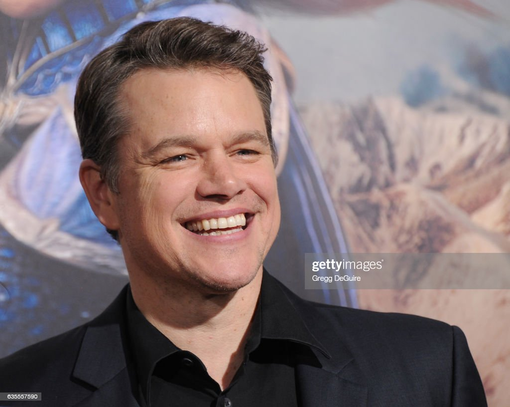 Actor Matt Damon arrives at the premiere of Universal Pictures' 'The Great Wall' at TCL Chinese Theatre IMAX on February 15, 2017 in Hollywood, California.