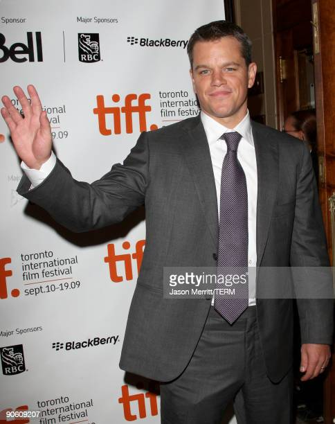 Actor Matt Damon arrives at the 'The Informant' premiere during the Toronto International Film Festival held at the Visa Screening Room at the Elgin...