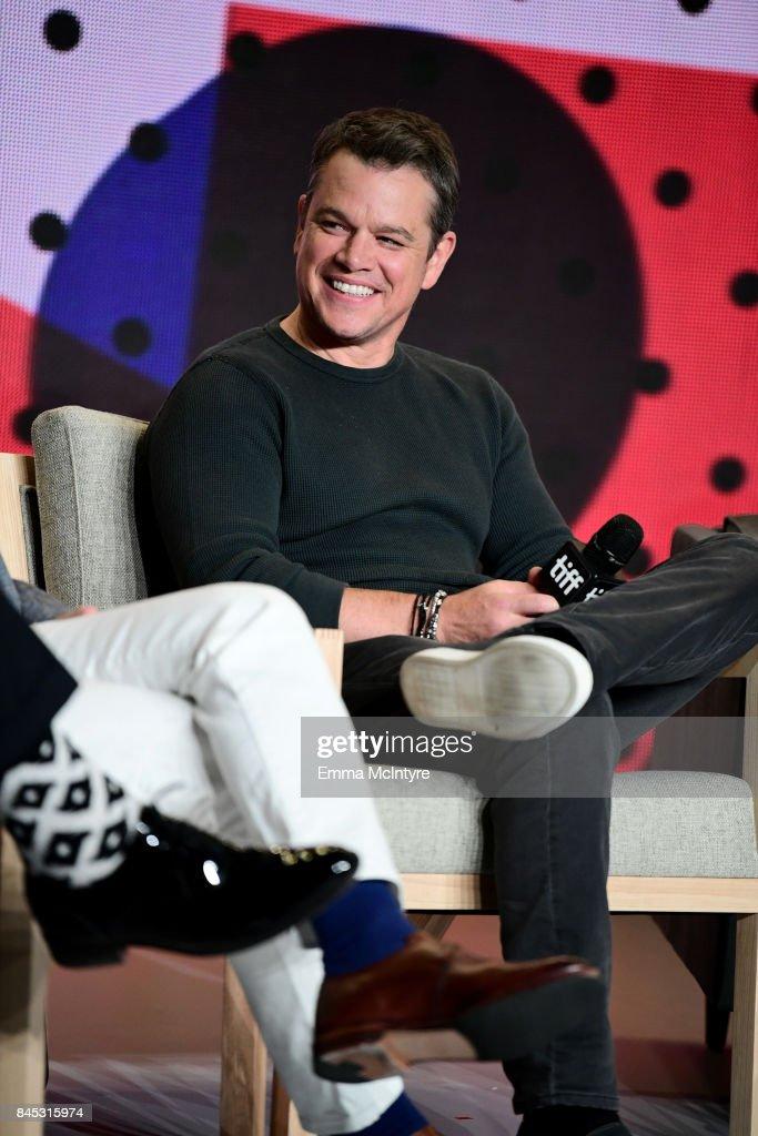 Actor Matt Damon at the 'Downsizing' press conference during the 2017 Toronto International Film Festival held at TIFF Bell Lightbox on September 10, 2017 in Toronto, Canada.