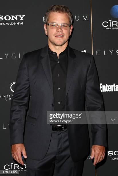 Actor Matt Damon attends 'Elysium' screening at Sunshine Landmark on July 30 2013 in New York City