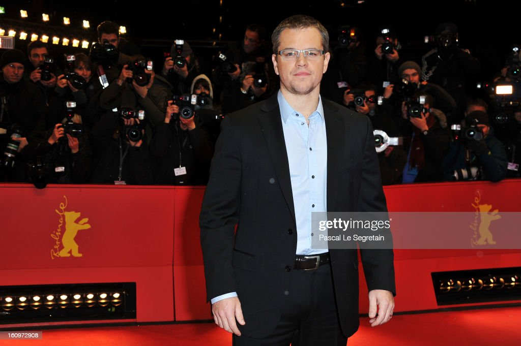 Actor Matt Damon attends 'Promised Land' Premiere during the 63rd Berlinale International Film Festival at Berlinale Palast on February 8, 2013 in Berlin, Germany.