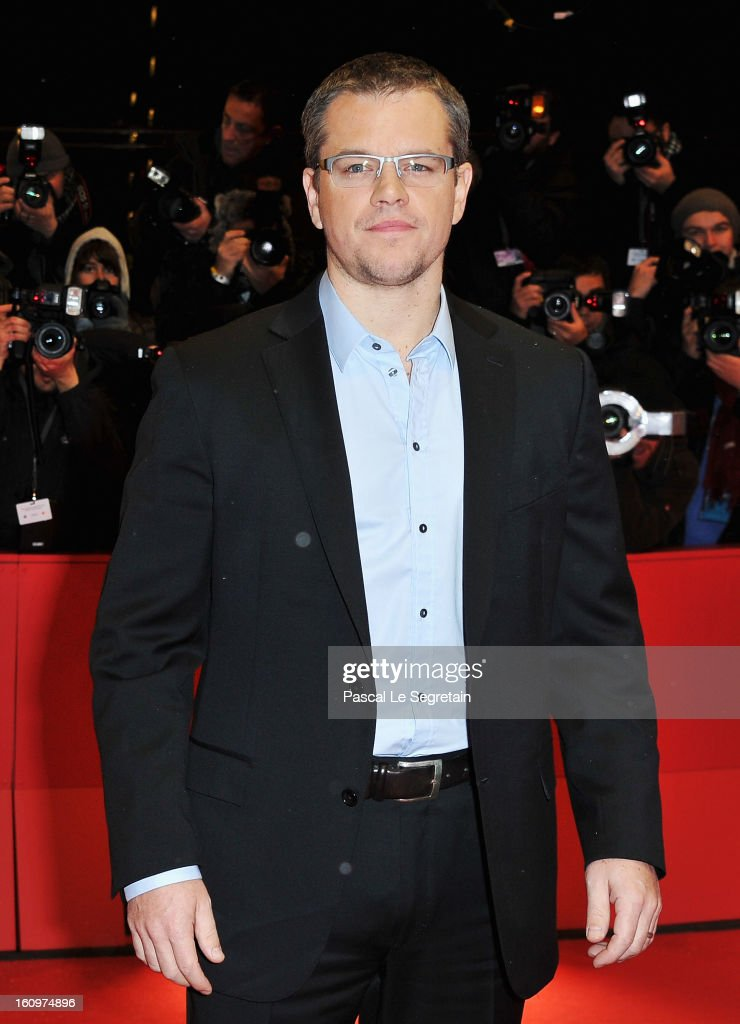 Actor <a gi-track='captionPersonalityLinkClicked' href=/galleries/search?phrase=Matt+Damon&family=editorial&specificpeople=202093 ng-click='$event.stopPropagation()'>Matt Damon</a> attends 'Promised Land' Premiere during the 63rd Berlinale International Film Festival at Berlinale Palast on February 8, 2013 in Berlin, Germany.