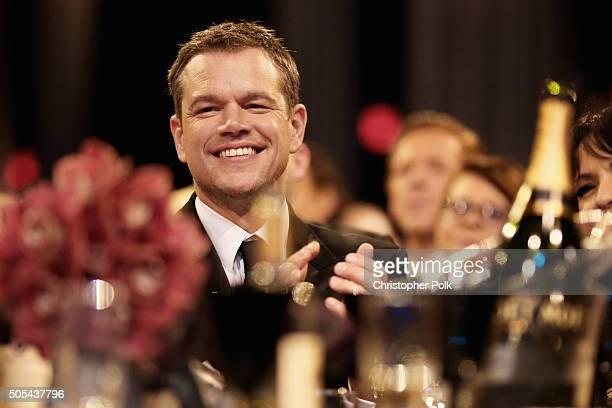 Actor Matt Damon attends the 21st Annual Critics' Choice Awards at Barker Hangar on January 17 2016 in Santa Monica California