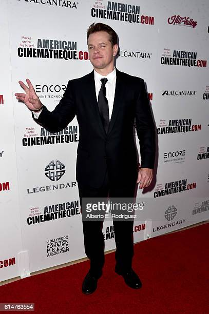 Actor Matt Damon attends the 30th Annual American Cinematheque Awards Gala at The Beverly Hilton Hotel on October 14 2016 in Beverly Hills California