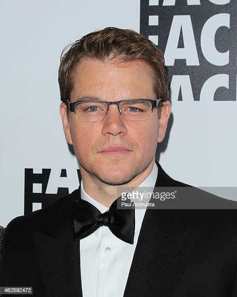 Actor Matt Damon attends the 65th annual ACE Eddie Awards at The Beverly Hilton Hotel on January 30 2015 in Beverly Hills California
