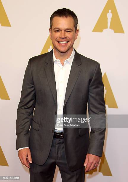 Actor Matt Damon attends the 88th Annual Academy Awards Nominee Luncheon in Beverly Hills California