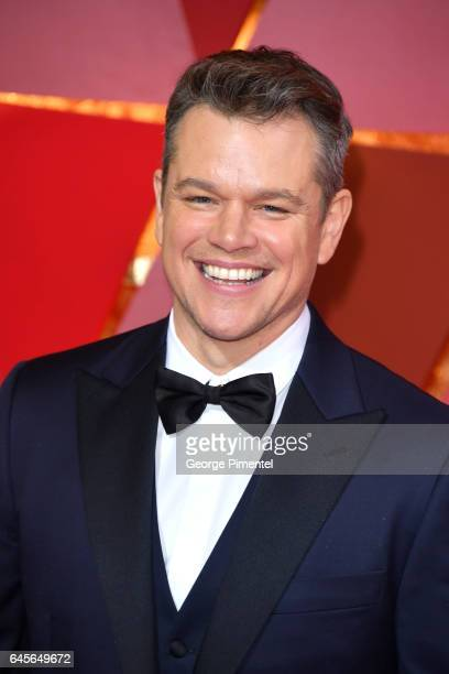 Actor Matt Damon attends the 89th Annual Academy Awards at Hollywood Highland Center on February 26 2017 in Hollywood California