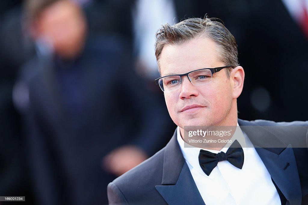 Actor <a gi-track='captionPersonalityLinkClicked' href=/galleries/search?phrase=Matt+Damon&family=editorial&specificpeople=202093 ng-click='$event.stopPropagation()'>Matt Damon</a> attends the 'Behind The Candelabra' premiere during The 66th Annual Cannes Film Festival at Theatre Lumiere on May 21, 2013 in Cannes, France.