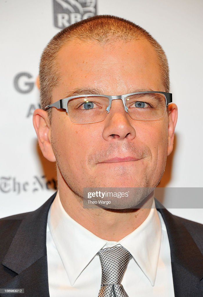 Actor Matt Damon attends the IFP's 22nd Annual Gotham Independent Film Awards at Cipriani Wall Street on November 26, 2012 in New York City.