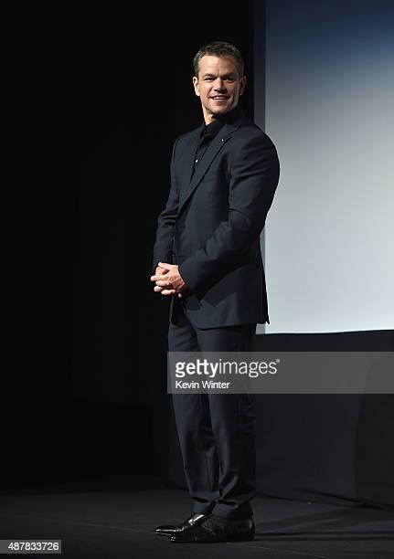 Actor Matt Damon attends 'The Martian' premiere during the 2015 Toronto International Film Festival at Roy Thomson Hall on September 11 2015 in...