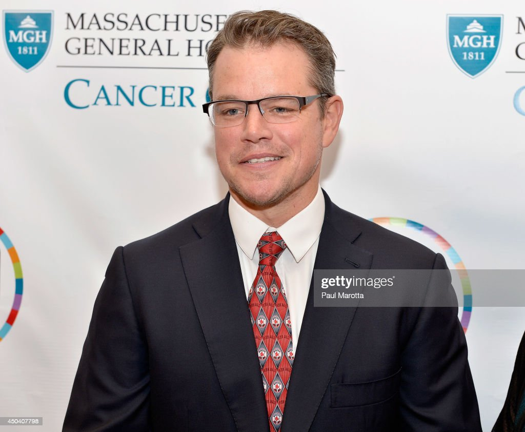 Actor <a gi-track='captionPersonalityLinkClicked' href=/galleries/search?phrase=Matt+Damon&family=editorial&specificpeople=202093 ng-click='$event.stopPropagation()'>Matt Damon</a> attends the Mass General Hospital Cancer Center's 7th annual 'the one hundred' Event at the Westin Boston Waterfront Hotel on June 10, 2014 in Boston, Massachusetts.