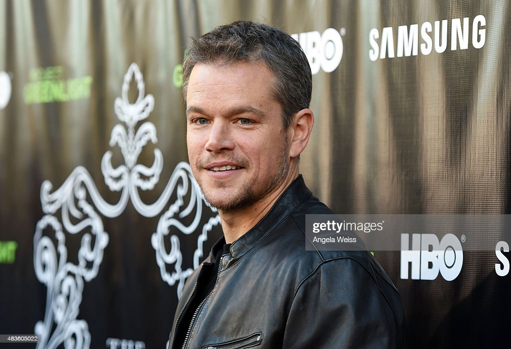 Actor <a gi-track='captionPersonalityLinkClicked' href=/galleries/search?phrase=Matt+Damon&family=editorial&specificpeople=202093 ng-click='$event.stopPropagation()'>Matt Damon</a> attends the Project Greenlight Season 4 Winning Film premiere 'The Leisure Class' presented by <a gi-track='captionPersonalityLinkClicked' href=/galleries/search?phrase=Matt+Damon&family=editorial&specificpeople=202093 ng-click='$event.stopPropagation()'>Matt Damon</a>, Ben Affleck, Adaptive Studios and HBO at The Theatre at Ace Hotel on August 10, 2015 in Los Angeles, California.