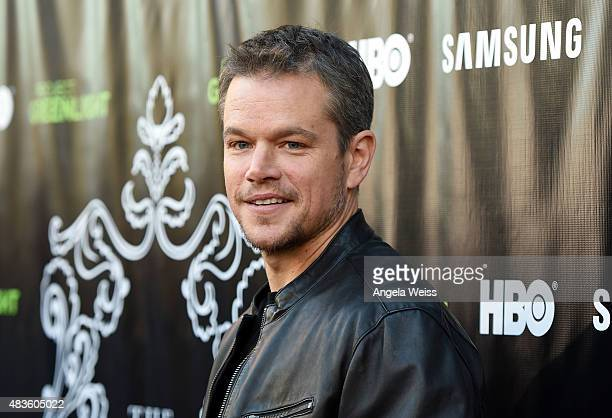 Actor Matt Damon attends the Project Greenlight Season 4 Winning Film premiere 'The Leisure Class' presented by Matt Damon Ben Affleck Adaptive...