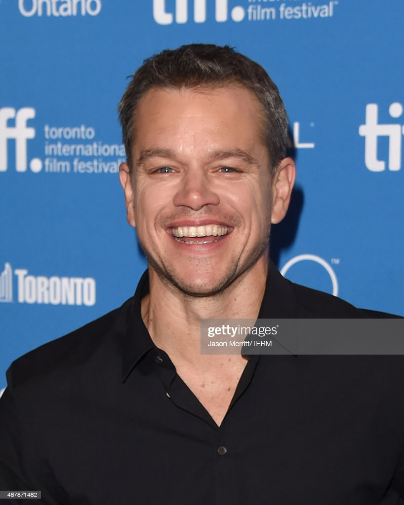 Actor <a gi-track='captionPersonalityLinkClicked' href=/galleries/search?phrase=Matt+Damon&family=editorial&specificpeople=202093 ng-click='$event.stopPropagation()'>Matt Damon</a> attends the 'The Martian' press conference at the 2015 Toronto International Film Festival at TIFF Bell Lightbox on September 11, 2015 in Toronto, Canada.