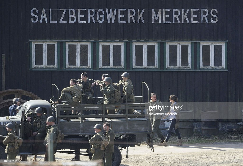 Actor Matt Damon is seen on set of the film 'The Monuments Men' on May 06, 2013 in Bad Grund, Germany.