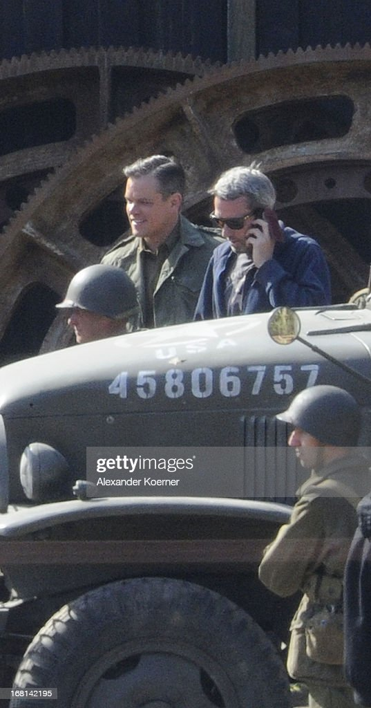 Actor <a gi-track='captionPersonalityLinkClicked' href=/galleries/search?phrase=Matt+Damon&family=editorial&specificpeople=202093 ng-click='$event.stopPropagation()'>Matt Damon</a> is seen on set of the film 'The Monuments Men' on May 06, 2013 in Bad Grund, Germany.