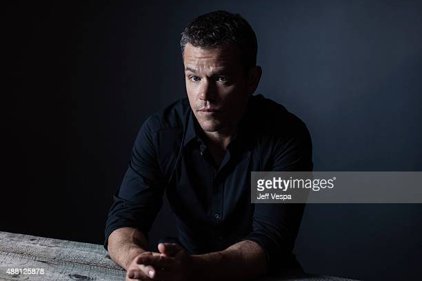 Actor Matt Damon of 'The Martian' poses for a portrait at the 2015 Toronto Film Festival at the TIFF Bell Lightbox on September 12 2015 in Toronto...