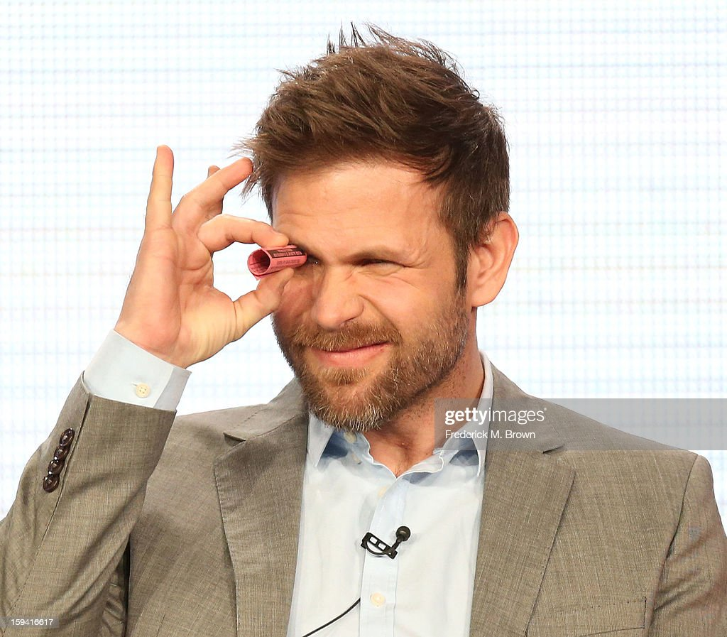 Actor Matt Davis of the television show 'Cult' speaks during the CW Network portion of the 2013 Winter Television Critics Association Press Tour at the Langham Huntington Hotel & Spa on January 13, 2013 in Pasadena, California.