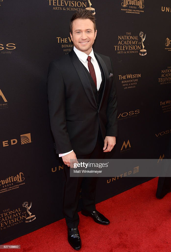 Actor Matt Doran walks the red carpet at the 43rd Annual Daytime Emmy Awards at the Westin Bonaventure Hotel on May 1, 2016 in Los Angeles, California.
