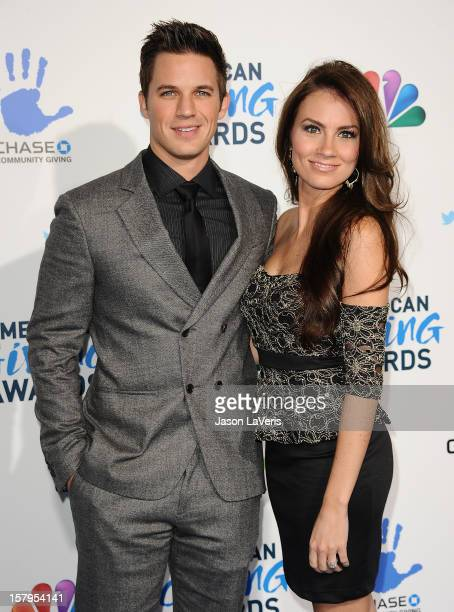 Actor Matt Lanter and fiance Angela Stacy attend 2012 American Giving Awards at Pasadena Civic Auditorium on December 7 2012 in Pasadena California