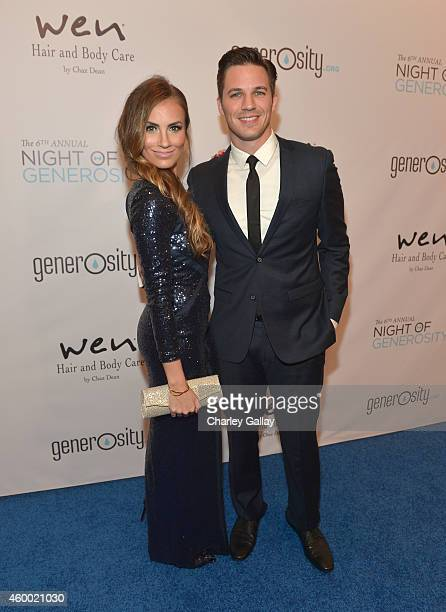 Actor Matt Lanter and wife Angela Stacy Lanter attend the 6th Annual Night of Generosity Gala presented by generosityorg at the Beverly Wilshire Four...