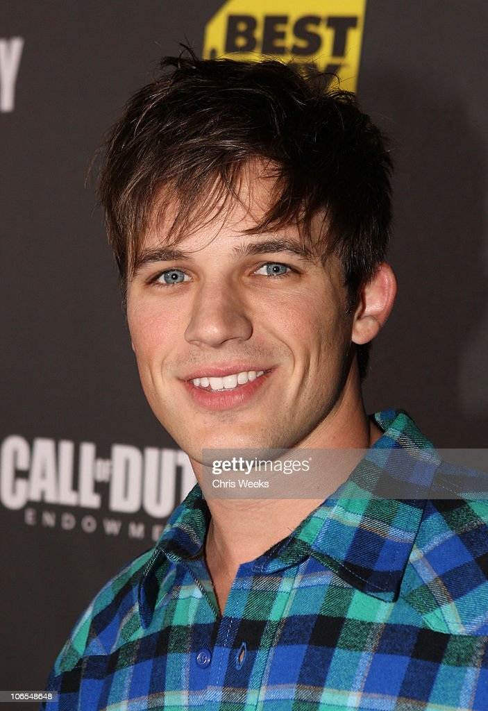 Actor <a gi-track='captionPersonalityLinkClicked' href=/galleries/search?phrase=Matt+Lanter&family=editorial&specificpeople=585848 ng-click='$event.stopPropagation()'>Matt Lanter</a> arrives at the Call Of Duty: Black Ops Launch Party held at Barker Hangar on November 4, 2010 in Santa Monica, California.