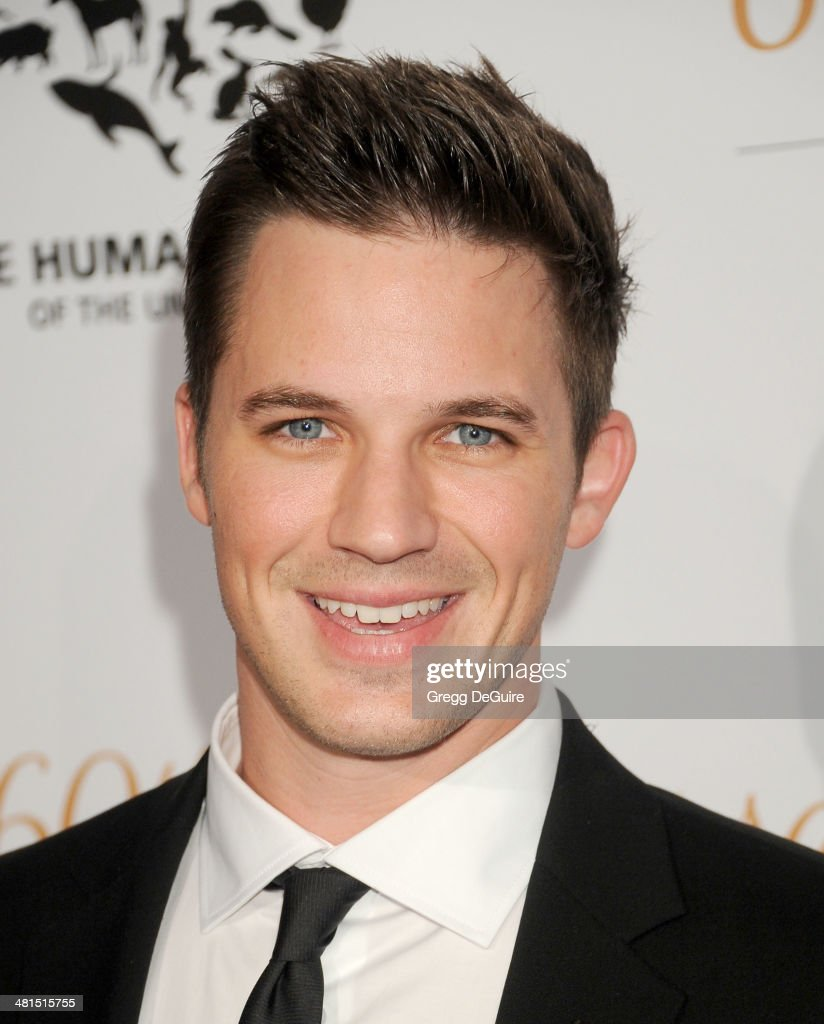 Actor Matt Lanter arrives at The Humane Society Of The United States 60th anniversary benefit gala at The Beverly Hilton Hotel on March 29, 2014 in Beverly Hills, California.
