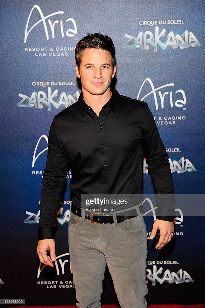 Actor <a gi-track='captionPersonalityLinkClicked' href=/galleries/search?phrase=Matt+Lanter&family=editorial&specificpeople=585848 ng-click='$event.stopPropagation()'>Matt Lanter</a> arrives at the Las Vegas premiere of 'Zarkana by Cirque du Soleil' at the Aria Resort & Casino at CityCenter on November 9, 2012 in Las Vegas, Nevada.