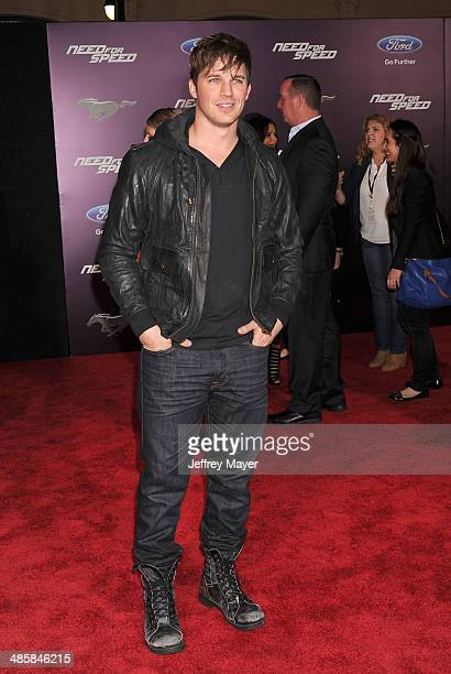 Actor Matt Lanter arrives at the Los Angeles premiere of 'Need For Speed' at TCL Chinese Theatre on March 6 2014 in Hollywood California