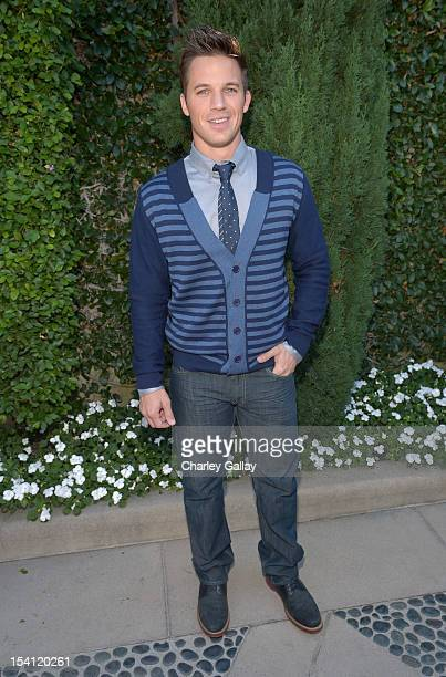 Actor Matt Lanter arrives at the Rape Treatment Center Brunch honoring Norman Lear hosted by Viola Davis at a Private Residence on October 14 2012 in...