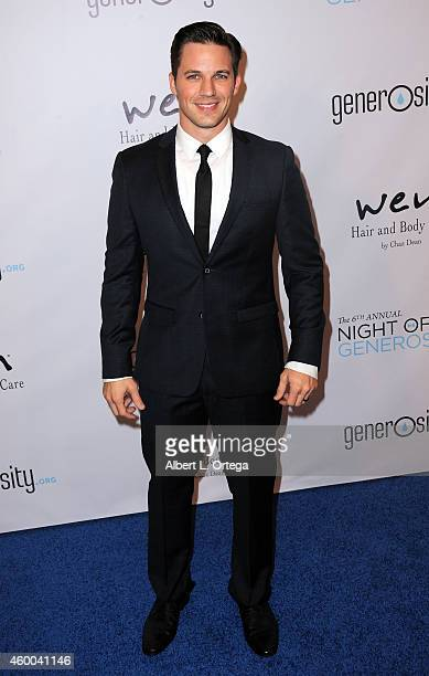 Actor Matt Lanter arrives for the 6th Annual Night Of Generosity Gala held at Regent Beverly Wilshire Hotel on December 5 2014 in Beverly Hills...