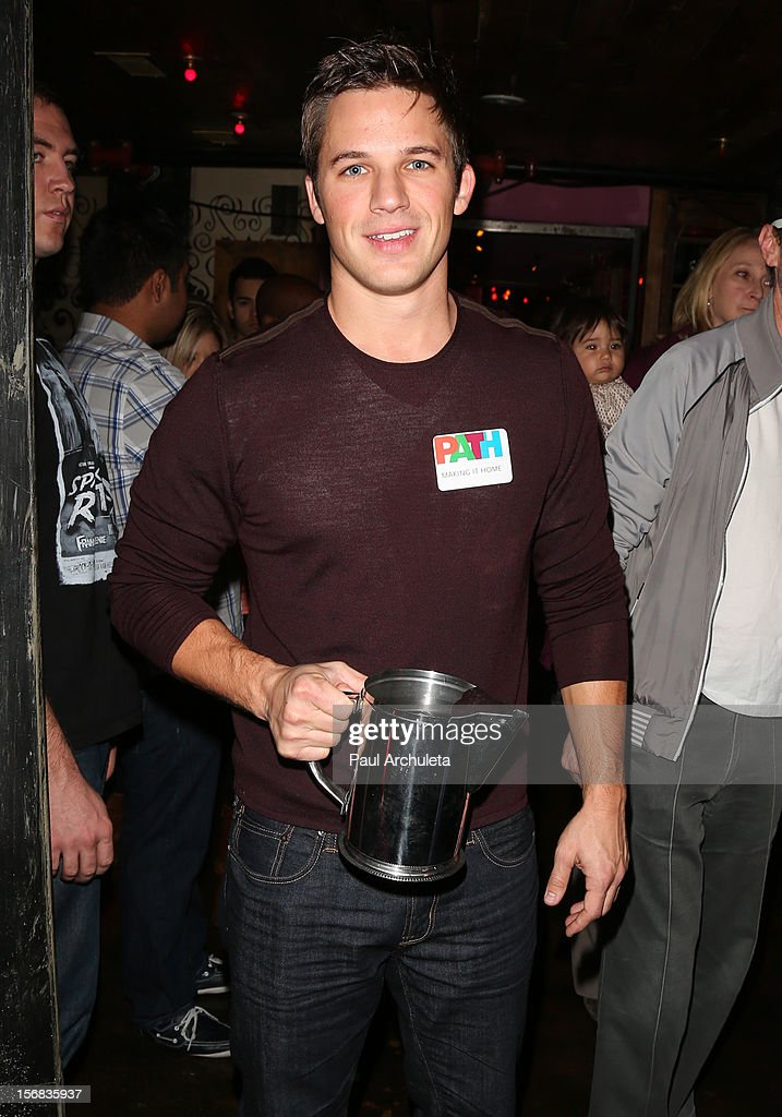 Actor Matt Lanter attends PATH's 4th Annual Thanksgiving Meal at Pink Taco on November 22, 2012 in Los Angeles, California.