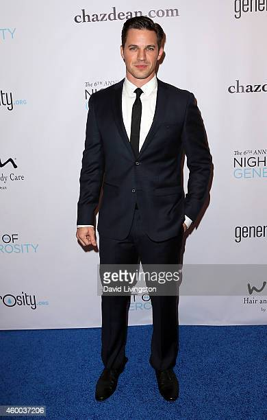 Actor Matt Lanter attends the 6th Annual Night of Generosity Gala at the Regent Beverly Wilshire Hotel on December 5 2014 in Beverly Hills California