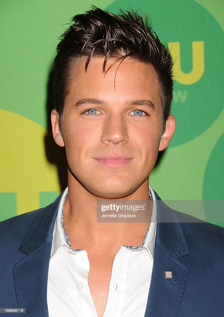 Actor <a gi-track='captionPersonalityLinkClicked' href=/galleries/search?phrase=Matt+Lanter&family=editorial&specificpeople=585848 ng-click='$event.stopPropagation()'>Matt Lanter</a> attends The CW Network's New York 2013 Upfront Presentation at The London Hotel on May 16, 2013 in New York City.