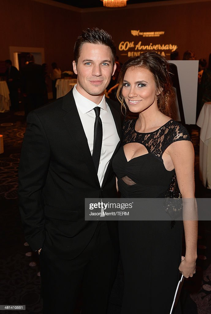 Actor Matt Lanter (L) attends the Humane Society of The United States 60th Anniversary Gala at The Beverly Hilton Hotel on March 29, 2014 in Beverly Hills, California.