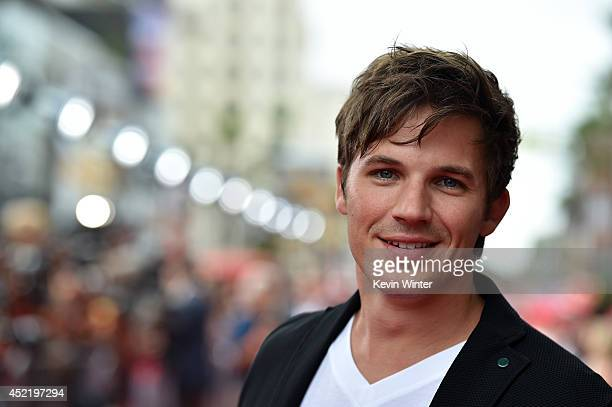 Actor Matt Lanter attends the premiere of Disney's 'Planes Fire Rescue' at the El Capitan Theatre on July 15 2014 in Hollywood California