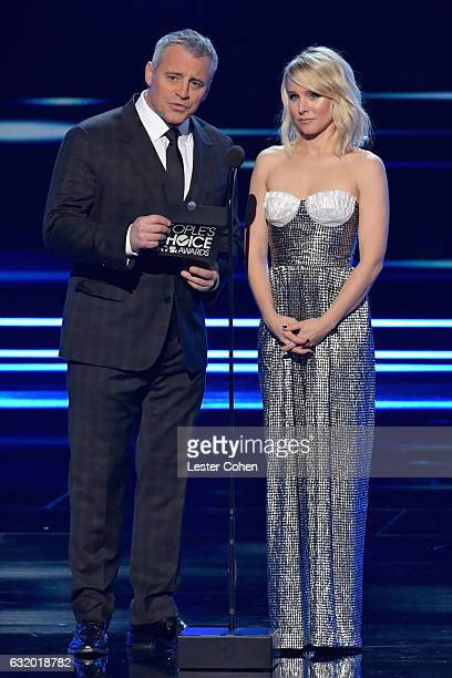 Actor Matt LeBlanc and actress Kristen Bell speak onstage during the People's Choice Awards 2017 at Microsoft Theater on January 18 2017 in Los...