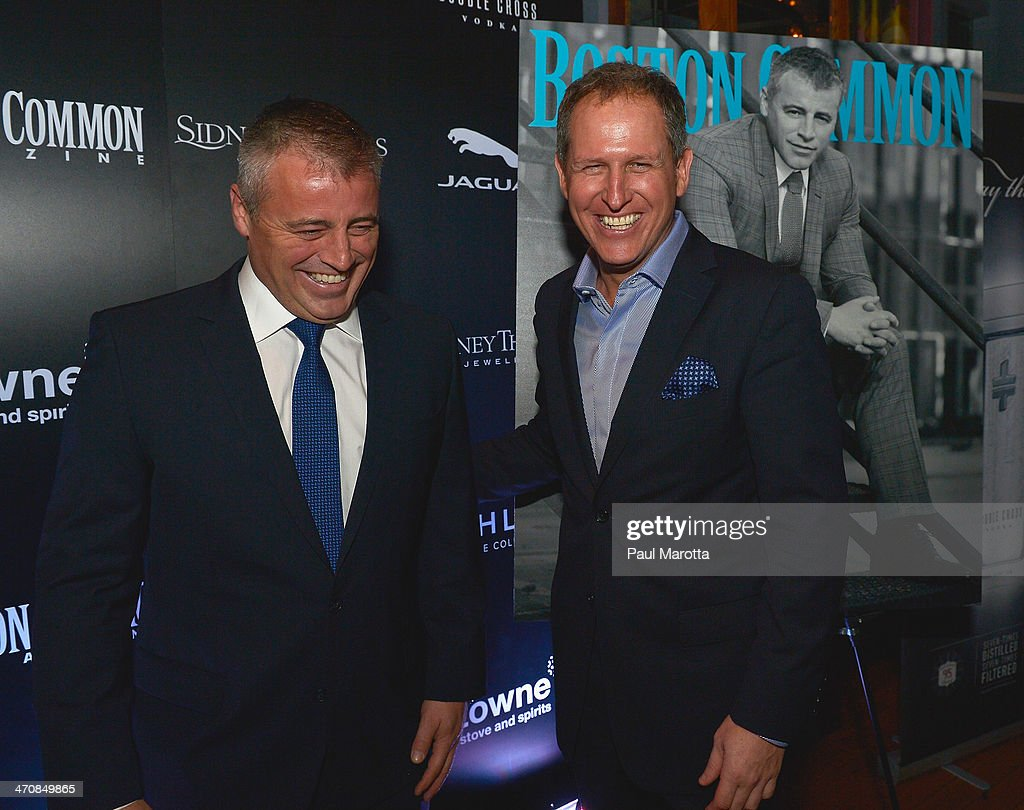Actor Matt LeBlanc and Boston Common Magazine Publisher Glen Kelley attend the Boston Common Magazine Celebration of its Spring Issue Hosted by Cover Star, Matt LeBlanc on February 20, 2014 in Boston, Massachusetts.