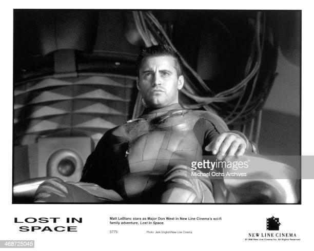 Actor Matt LeBlanc on set of the New Line Cinema movie ' Lost in Space ' circa 1998