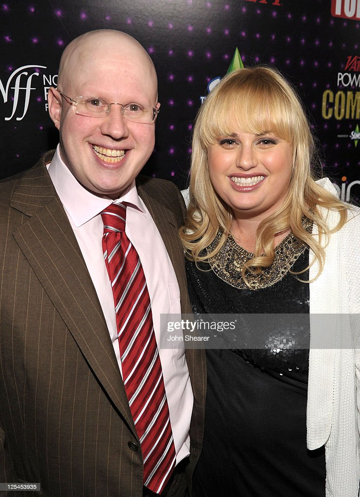 Actor <a gi-track='captionPersonalityLinkClicked' href=/galleries/search?phrase=Matt+Lucas+-+Comedian&family=editorial&specificpeople=204202 ng-click='$event.stopPropagation()'>Matt Lucas</a> and Comedian Rebel Wilson arrive at Variety's Power of Comedy presented by Sims 3 in Partnership with Bing at Club Nokia on December 4, 2010 in Los Angeles, California.