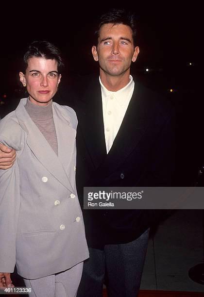 Actor Matt McCoy and wife Mary attend the 'Mrs Doubtfire' Beverly Hills Premiere on November 22 1993 at the Academy of Motion Picture Arts Sciences...
