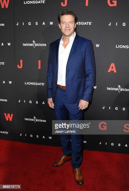 Actor Matt Passmore attends the premiere of 'Jigsaw' at ArcLight Hollywood on October 25 2017 in Hollywood California