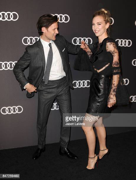 Actor Matt Smith and actress Vanessa Kirby attend the Audi celebration for the 69th Emmys at The Highlight Room at the Dream Hollywood on September...