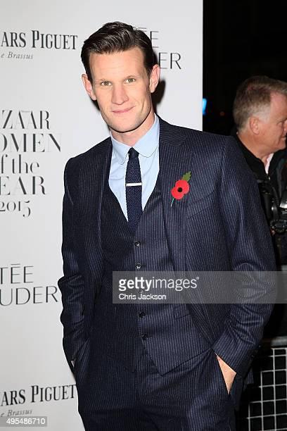 Actor Matt Smith attends Harper's Bazaar Women of the Year Awards at Claridge's Hotel on November 3 2015 in London England