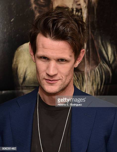 Actor Matt Smith attends Screen Gem's 'Pride and Prejudice and Zombies' photo call at The London Hotel on January 22 2016 in West Hollywood California
