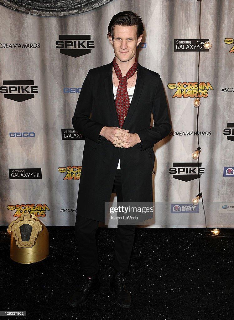 Actor Matt Smith attends Spike TV's 2011 Scream Awards at Gibson Amphitheatre on October 15, 2011 in Universal City, California.