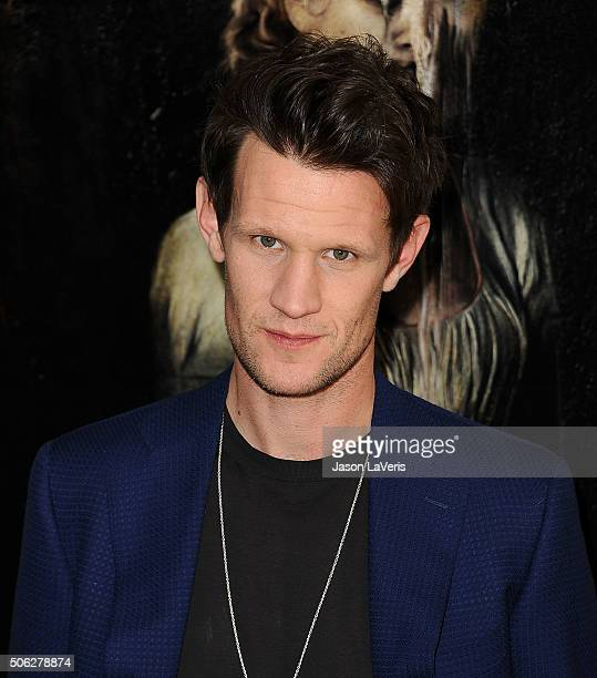 Actor Matt Smith attends the cast photo call for 'Pride and Prejudice and Zombies' at The London Hotel on January 22 2016 in West Hollywood California