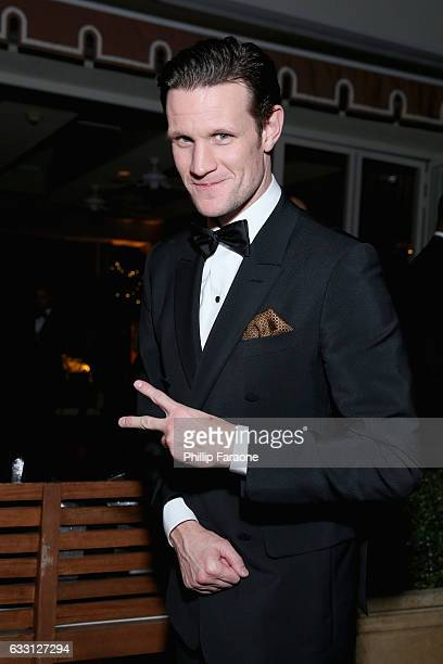 Actor Matt Smith attends The Weinstein Company Netflix's 2017 SAG After Party in partnership with Absolut Elyx at Sunset Tower Hotel on January 29...