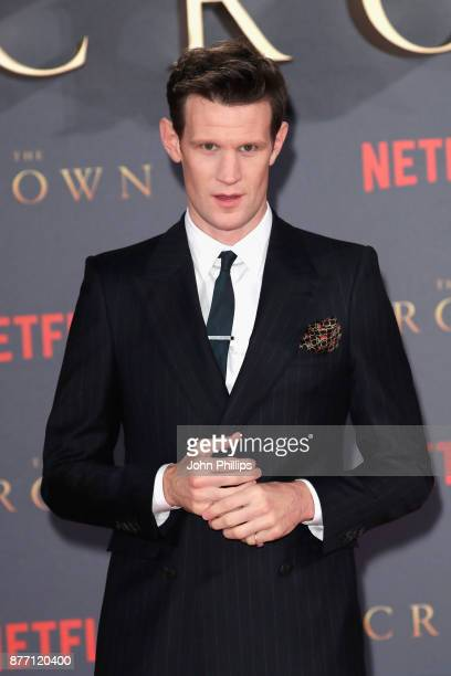 Actor Matt Smith attends the World Premiere of season 2 of Netflix 'The Crown' at Odeon Leicester Square on November 21 2017 in London England